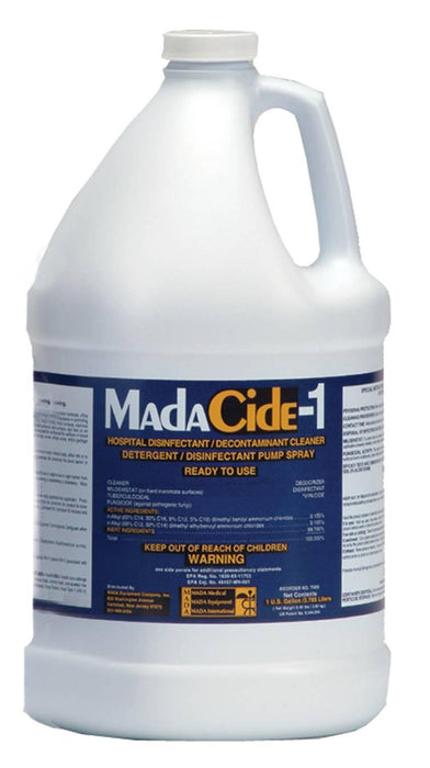 MadaCide-1 Disinfectant Cleaner - 4 Gallons Per Case - Medical Supply Surplus
