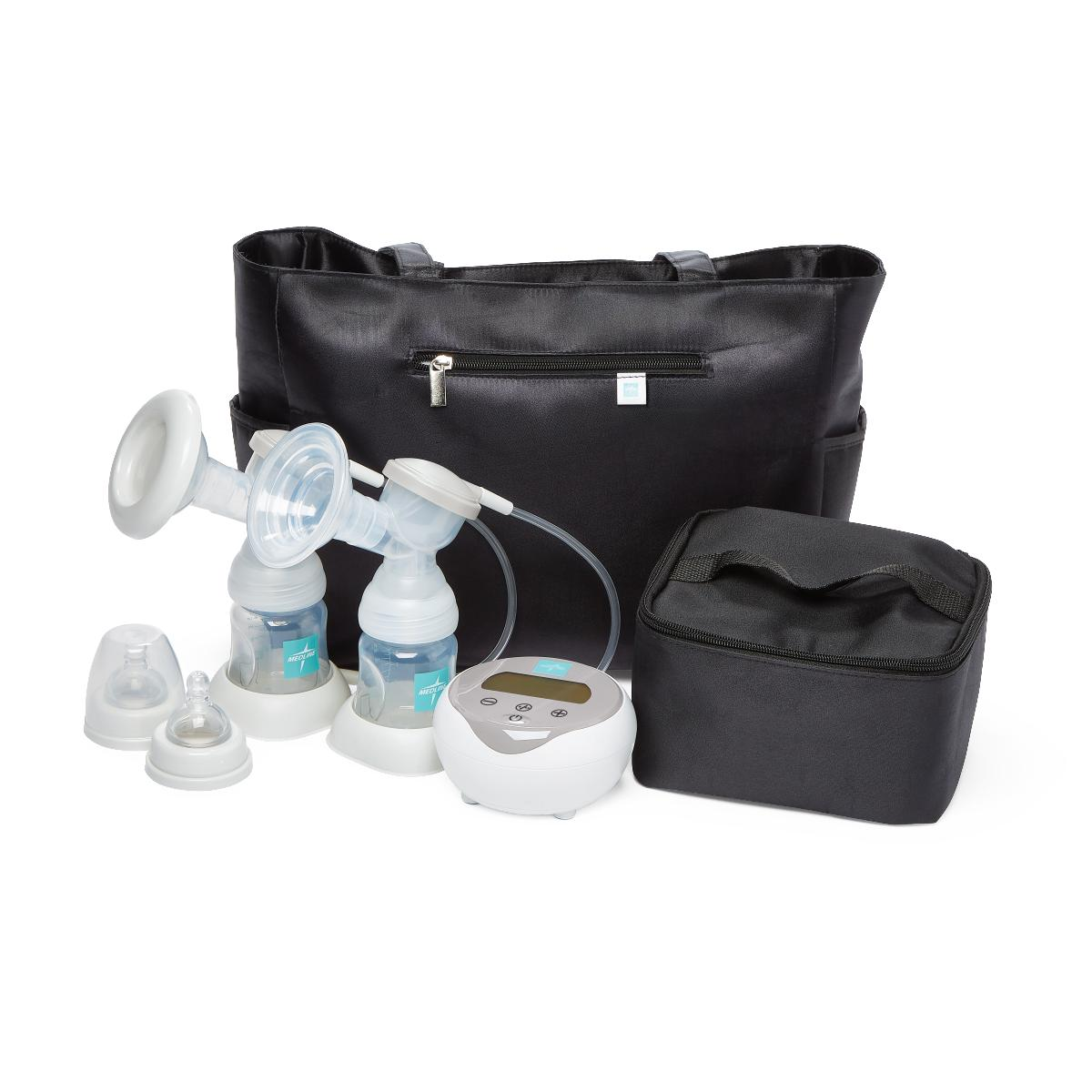 Double Electric Breast Pump Kit w/ Six Bottles