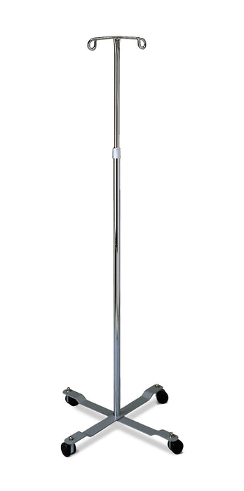 Chrome Four Leg IV Pole - Medical Supply Surplus