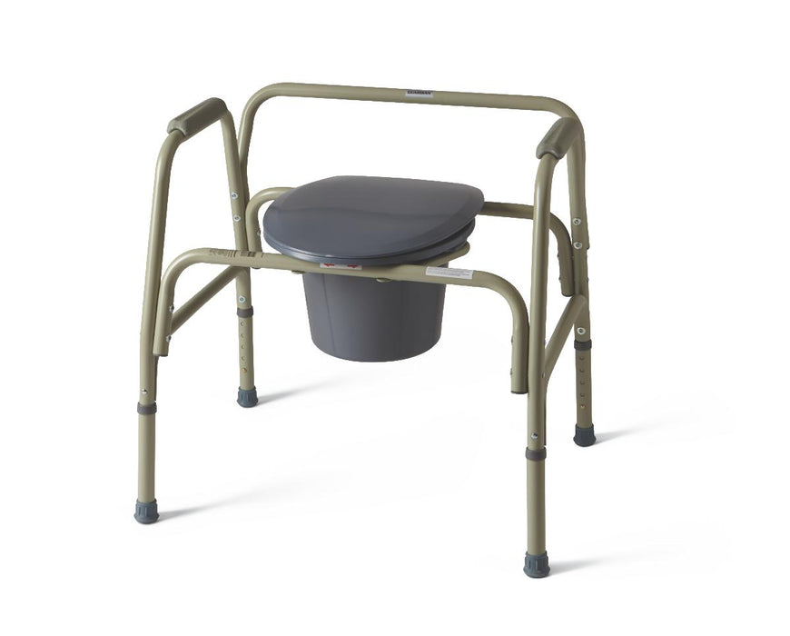 Steel Bariatric Bedside Commode - Medical Supply Surplus