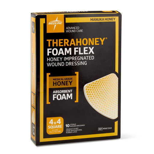 TheraHoney Foam Flex Wound Dressing Sheet - MNK1344 - Medical Supply Surplus