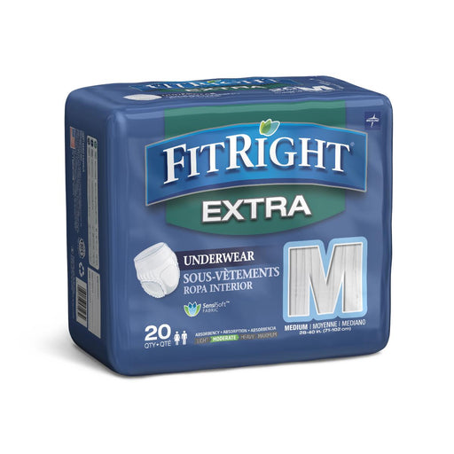 FitRight Extra Incontinence Underwear- Case of 80 - Medical Supply Surplus