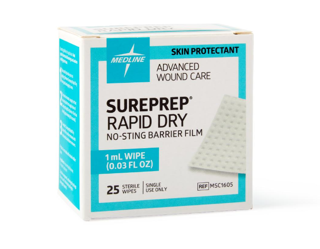 SurePrep Rapid Dry No Sting Barrier Wipe -MSC1605 - Medical Supply Surplus