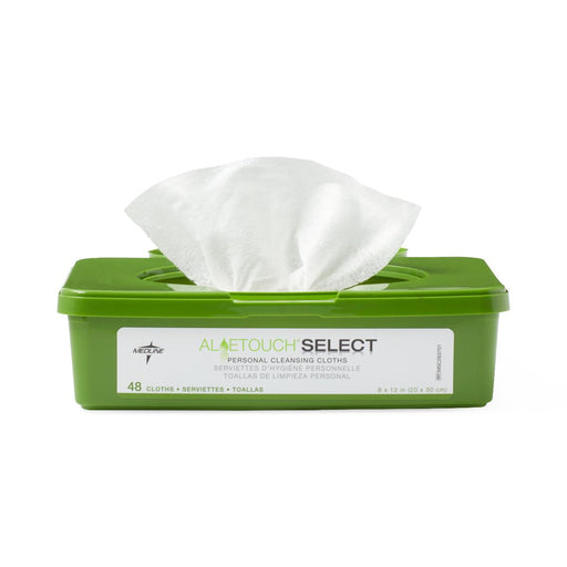 Aloetouch SELECT Premium Spunlace Personal Cleansing Wipes  - Case of 576 - Medical Supply Surplus