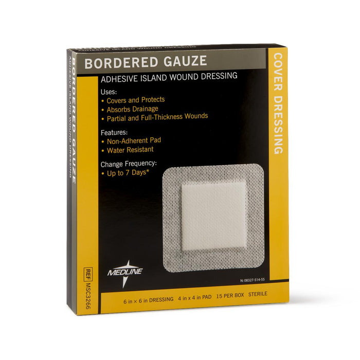 Bordered Gauze Island Wound Dressing - Medical Supply Surplus