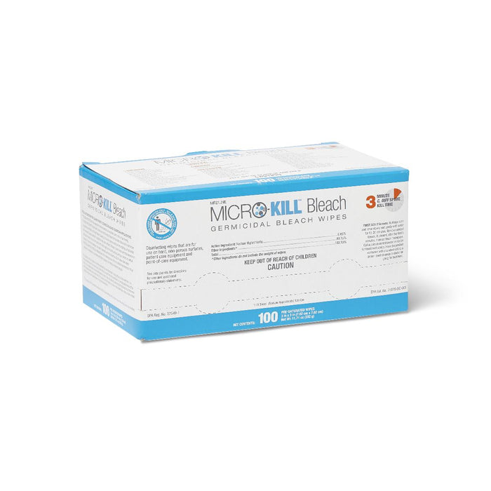 Micro-Kill Bleach Germicidal Bleach Wipes - Box of 100 - Medical Supply Surplus