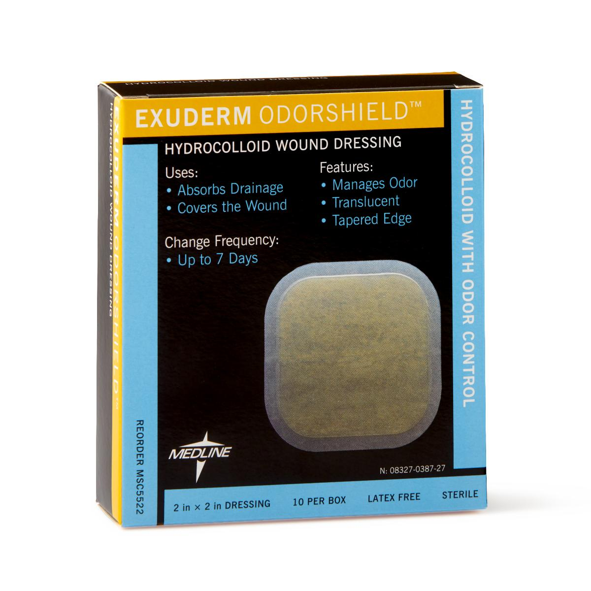 "Exuderm Odorshield Hydrocolloid Wound Dressing 2"" x 2"" - Medical Supply Surplus"