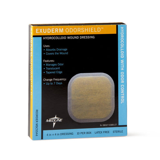 "Exuderm Odorshield Hydrocolloid Wound Dressing 4"" x 4"" - Medical Supply Surplus"
