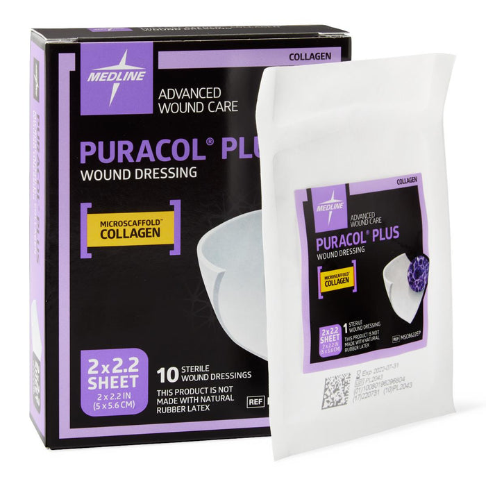 Puracol Plus Collagen Wound Dressings - Box of 10 - Medical Supply Surplus