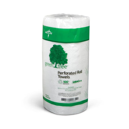 Green Tree Perforated Paper Towel Roll - Case of 30 Rolls - Medical Supply Surplus
