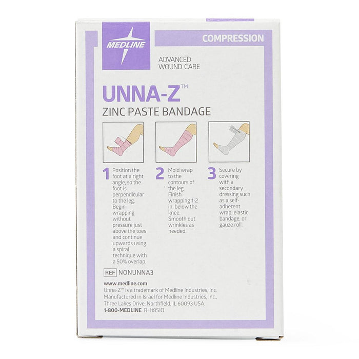 "Unna Boot Compression Wrap with Zinc & Calamine 3"" x 10yd - NONUNNA3 - Medical Supply Surplus"