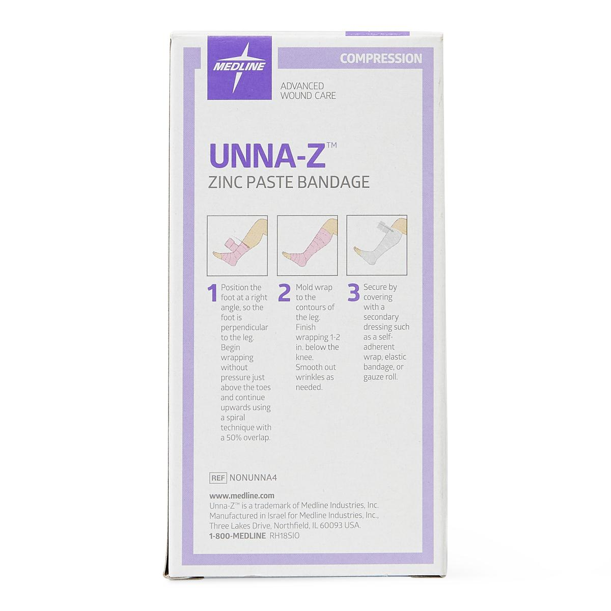 "Unna-Z Boot Compression Wrap with Zinc & Calamine 4"" x 10yd - NONUNNA4"