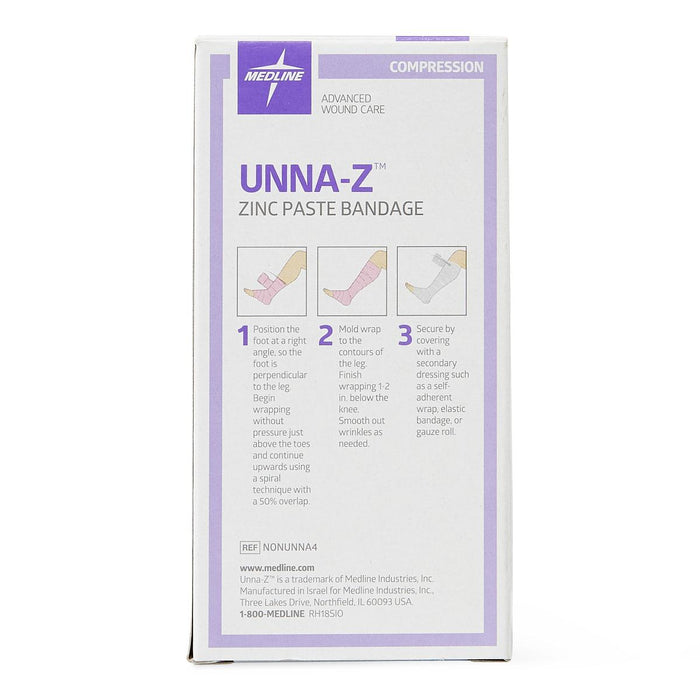 "Unna-Z Boot Compression Wrap with Zinc & Calamine 4"" x 10yd - NONUNNA4 - Medical Supply Surplus"