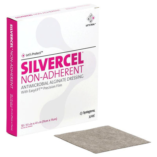 "SILVERCEL Non-Adherant Antimicrobial Dressing -  4.2"" x 4.2"" - Medical Supply Surplus"