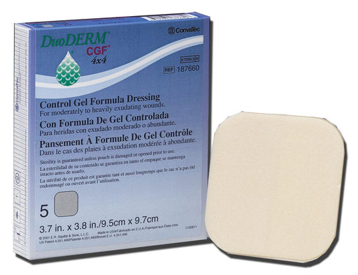 "DuoDERM CGF Sterile Dressing 4"" x 4"" - 187658 - Medical Supply Surplus"