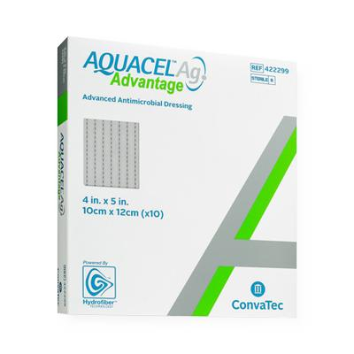 "Aquacel® Ag Advantage™ Wound Dressing 4"" x 5"" - 422299 - Medical Supply Surplus"