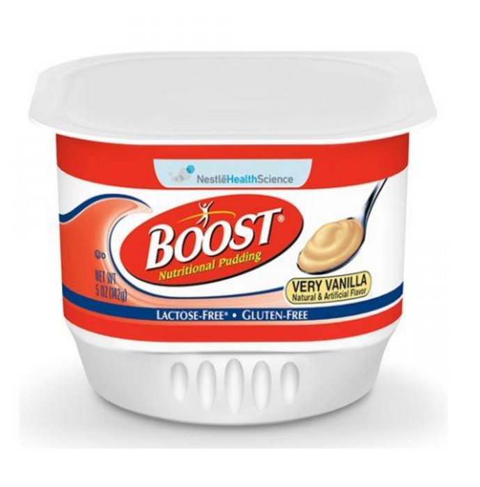 Boost® Nutritional Pudding 5oz Containers-  Case of 48 - Medical Supply Surplus
