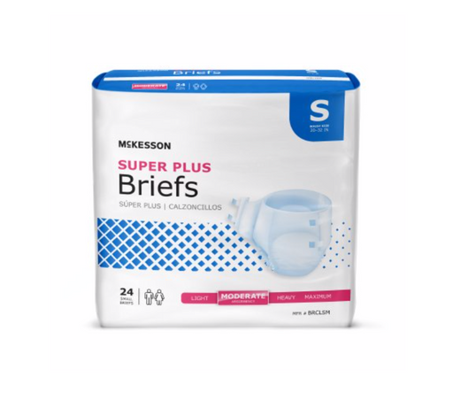 McKesson Super Plus Moderate Absorbency Incontinence Briefs - Medical Supply Surplus