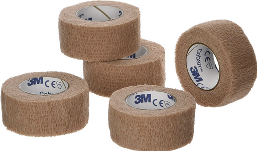 "Coban Cohesive Non-Sterile Bandages 1"" x 5 yards - Medical Supply Surplus"