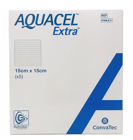 "Aquacel® Extra™ Hydrofiber Wound Dressing 6"" x 6"" - 420673 - Medical Supply Surplus"