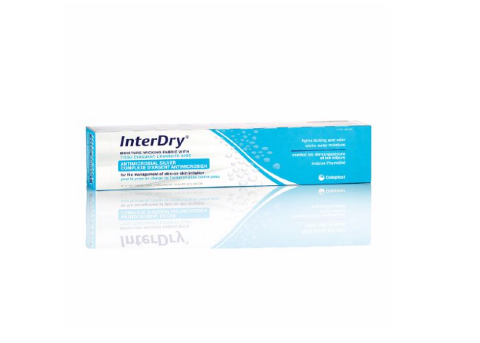 InterDry® Skinfold Management Dressing with Silver 10 X 144 Inch Roll - Medical Supply Surplus