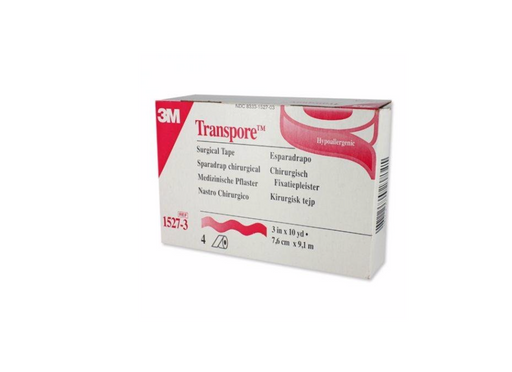 "3M™ Transpore™ 3"" Water Resistant Plastic Tape NonSterile - Medical Supply Surplus"