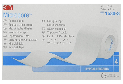 "3M™ Micropore™ 3"" Paper Medical Tape Skin Friendly White NonSterile - Medical Supply Surplus"