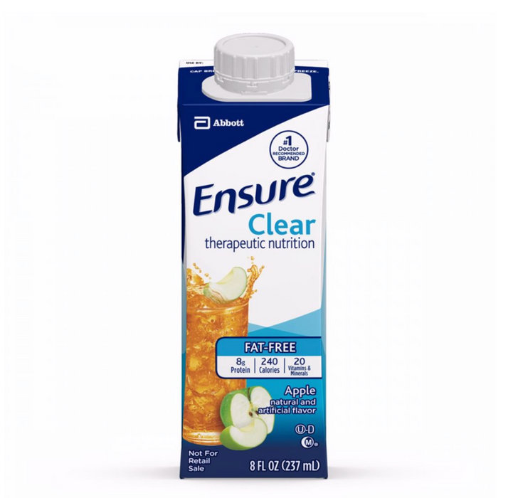 Ensure® Clear 8 oz. Container Carton - Case of 24 - Medical Supply Surplus