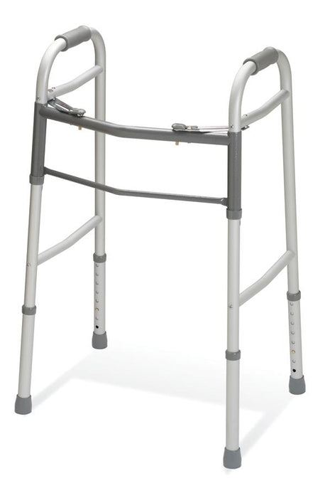 Two-Button Folding Walker without Wheels - Medical Supply Surplus