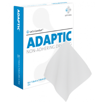 "Adaptic Non Adherent Dressing 3"" x 8""  - 24/Box - Medical Supply Surplus"