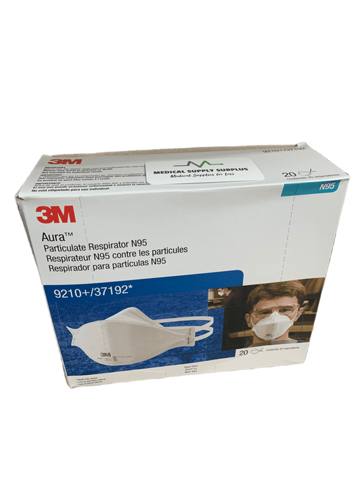 3M Aura N95 Respirator Masks 9210 20/Box - Medical Supply Surplus