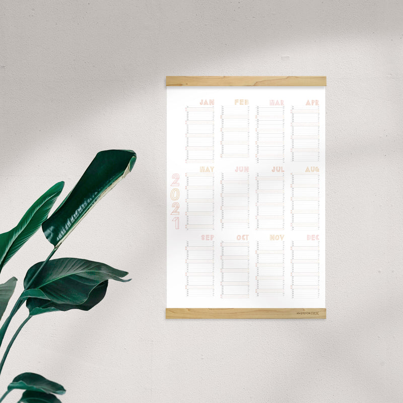"""Just Peachy"" 2021 Wall Planner"