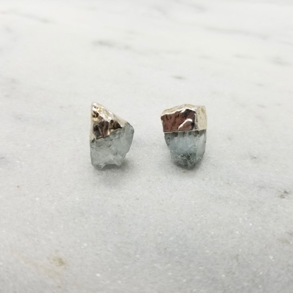 Silver Dipped Rock Studs