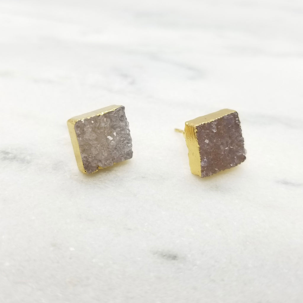 Honey Dipped Square Studs