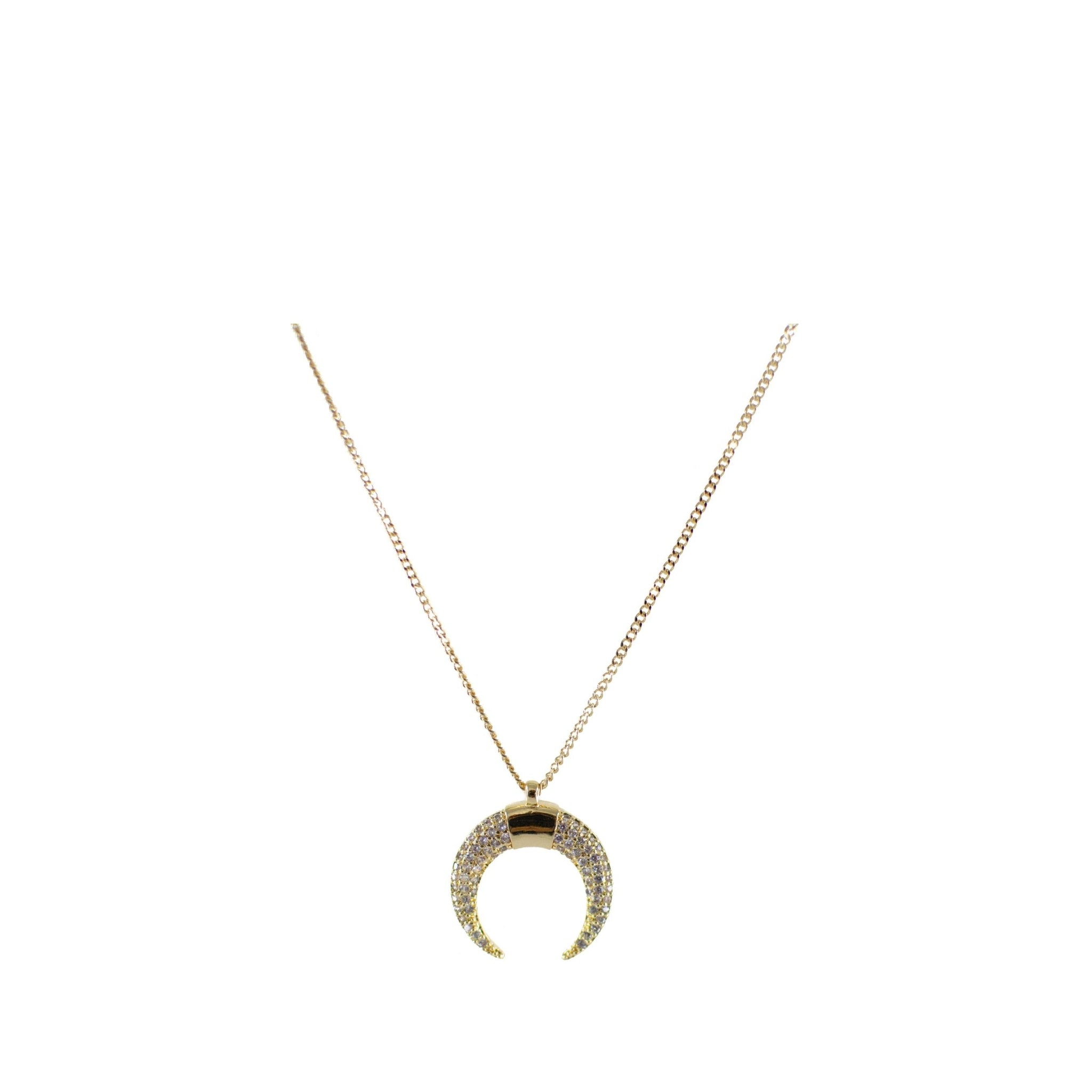 Half Moon Necklace Gold Plated 1
