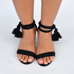 Mexican Block Heels Black (Front)