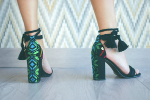 IZEL Black - Mexican Block Heels