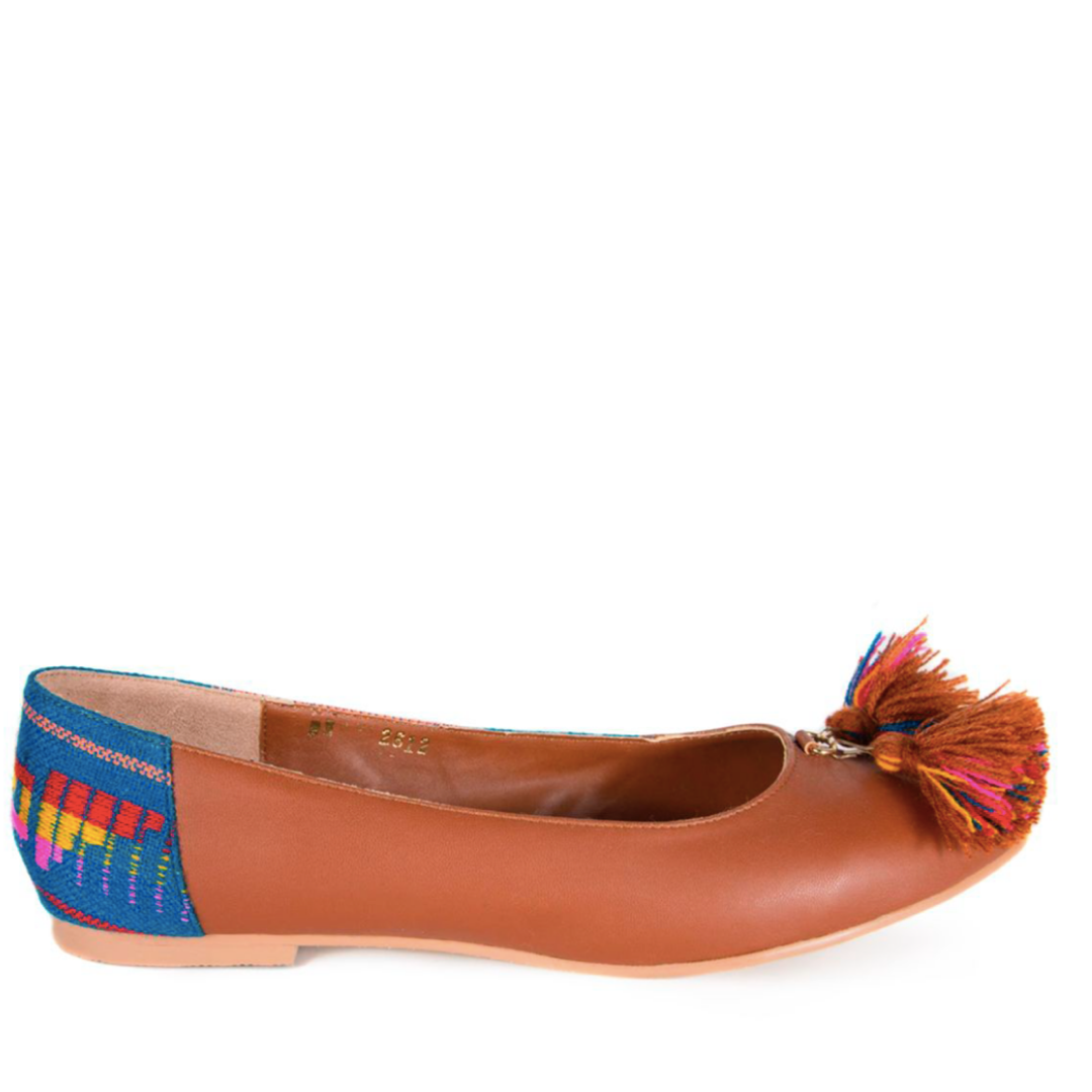 Mexican Flats Brown Embroidered 1