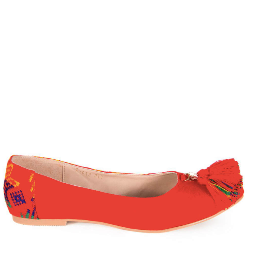Mexican Flats Red Embroidered 1
