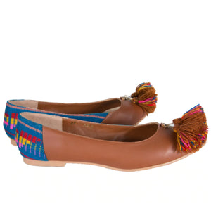 Mexican Flats Brown Embroidered 2