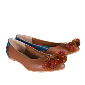 Mexican Flats Brown Embroidered 3