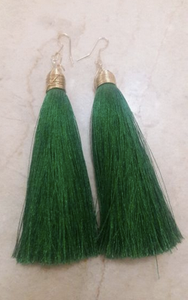 SILK Long Tassel Earrings
