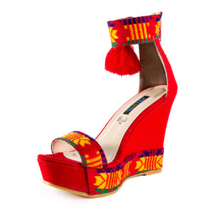 Mexican Wedges Red Embroidered 4