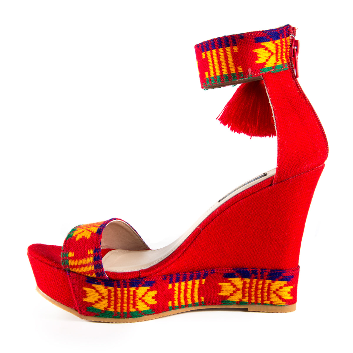 Mexican Wedges Red Embroidered 5