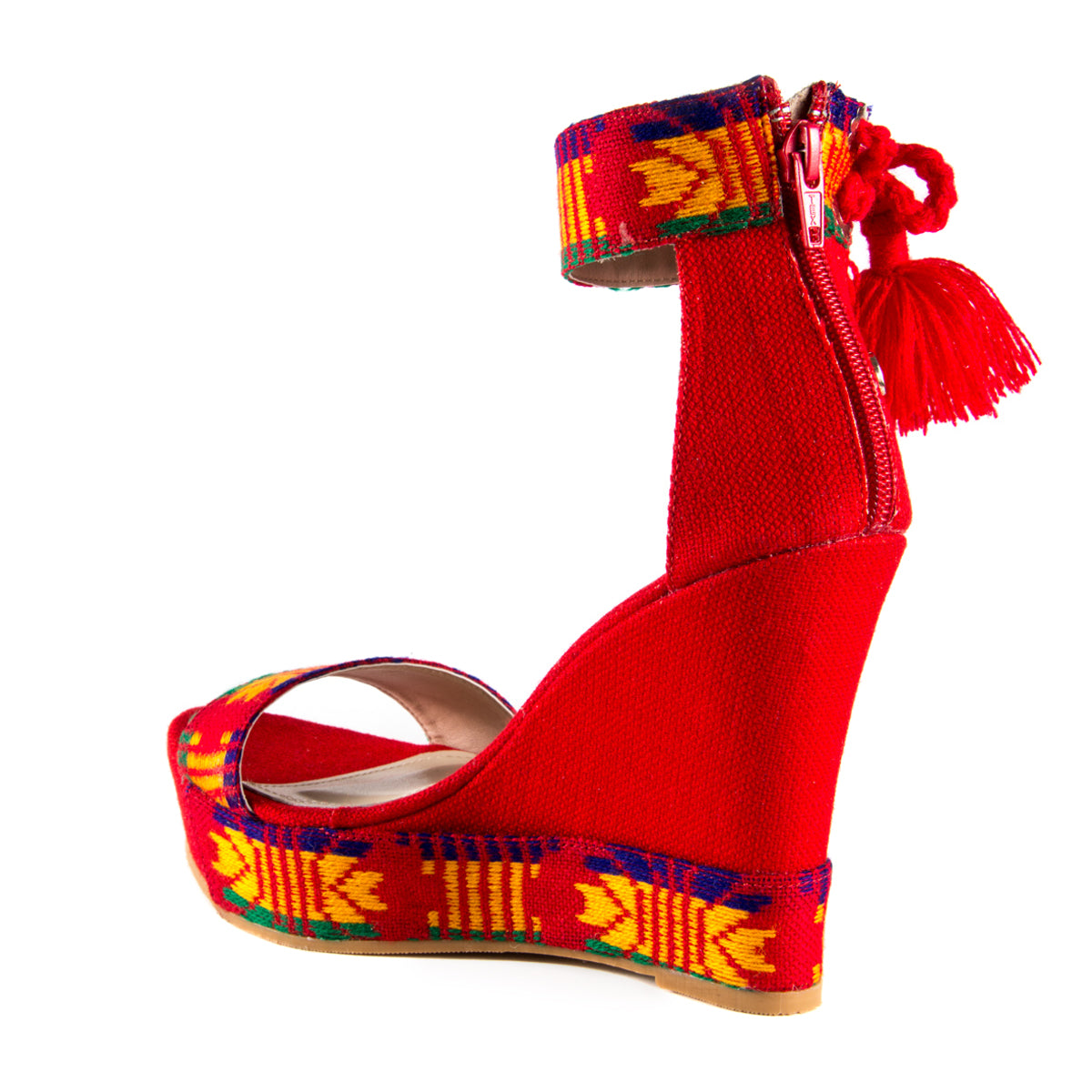 Mexican Wedges Red Embroidered 6