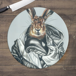 BOXING HARE - GLASS WORKTOP