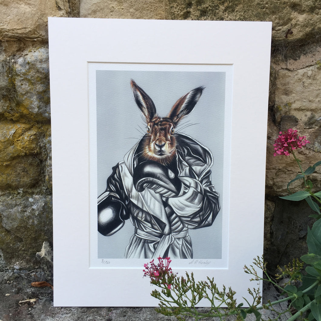 BOXING HARE Limited Edition Print