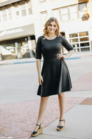 Gray Fit n Flare Dress