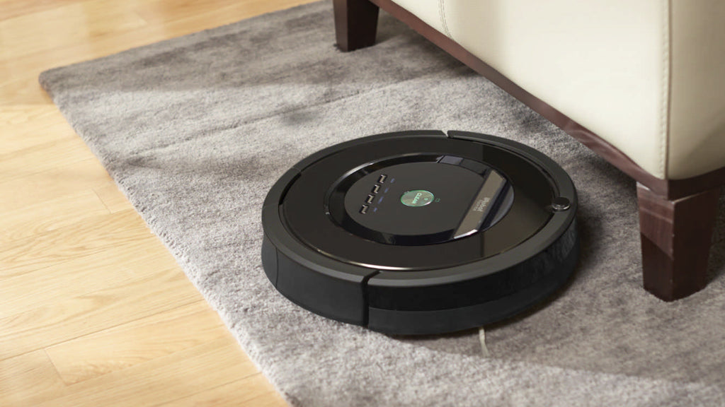 Hockey pucks raise furniture for cleaning robots