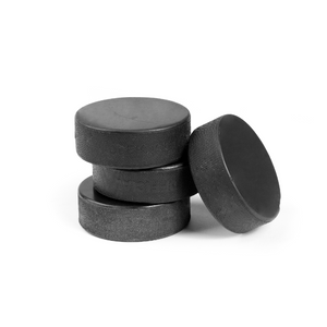 Recycled rubber practice pucks